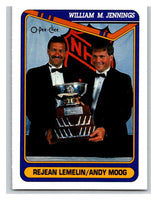 1990-91 O-Pee-Chee #486 Rejean Lemelin/Andy Moog Mint