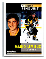 1991-92 Pinnacle #1 Mario Lemieux Penguins