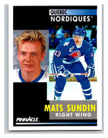 1991-92 Pinnacle #10 Mats Sundin Nordiques