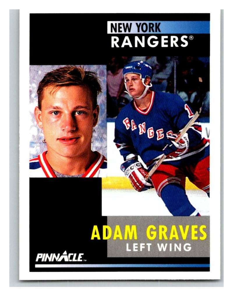 1991-92 Pinnacle #16 Adam Graves NY Rangers