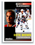 1991-92 Pinnacle #154 Keith Brown Blackhawks