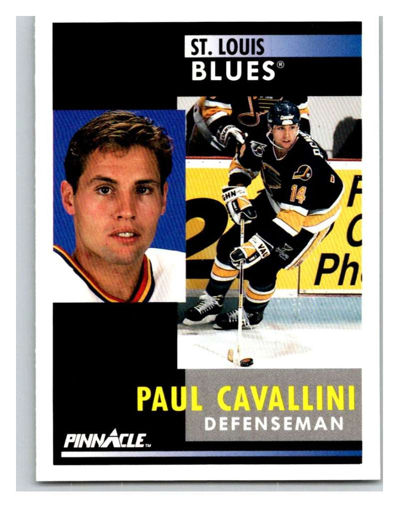 1991-92 Pinnacle #182 Paul Cavallini Blues