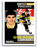 1991-92 Pinnacle #191 Kevin Stevens Penguins