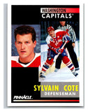 1991-92 Pinnacle #221 Sylvain Cote Capitals