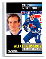1991-92 Pinnacle #230 Alexei Gusarov RC Rookie Nordiques