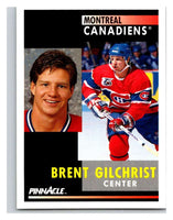 1991-92 Pinnacle #236 Brent Gilchrist Canadiens