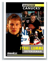 1991-92 Pinnacle #237 Jyrki Lumme Canucks