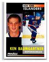 1991-92 Pinnacle #239 Ken Baumgartner NY Islanders