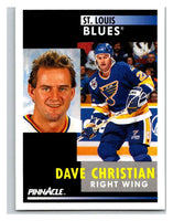1991-92 Pinnacle #244 Dave Christian Blues
