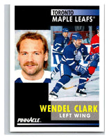 1991-92 Pinnacle #250 Wendel Clark Maple Leafs