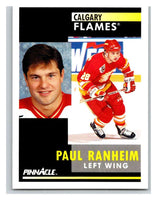 1991-92 Pinnacle #252 Paul Ranheim Flames