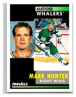 1991-92 Pinnacle #253 Mark Hunter Whalers