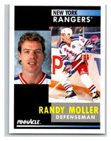 1991-92 Pinnacle #256 Randy Moller NY Rangers