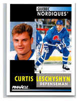1991-92 Pinnacle #258 Curtis Leschyshyn Nordiques