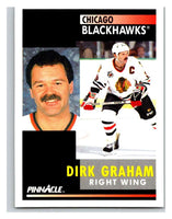1991-92 Pinnacle #261 Dirk Graham Blackhawks