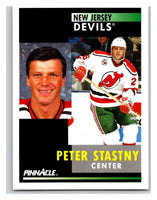 1991-92 Pinnacle #266 Peter Stastny NJ Devils
