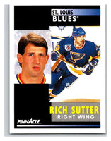 1991-92 Pinnacle #268 Rich Sutter Blues