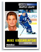 1991-92 Pinnacle #269 Mike Krushelnyski Maple Leafs