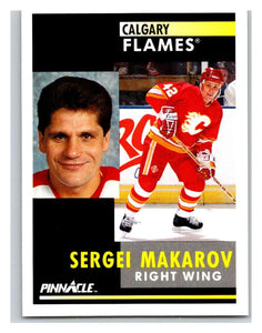 1991-92 Pinnacle #271 Sergei Makarov Flames