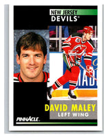 1991-92 Pinnacle #272 David Maley NJ Devils
