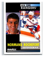 1991-92 Pinnacle #273 Normand Rochefort NY Rangers
