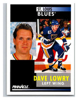 1991-92 Pinnacle #276 Dave Lowry Blues