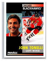 1991-92 Pinnacle #284 John Tonelli Blackhawks