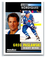 1991-92 Pinnacle #286 Greg Paslawski Nordiques