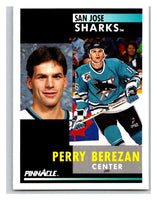 1991-92 Pinnacle #287 Perry Berezan Sharks