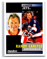 1991-92 Pinnacle #288 Randy Carlyle Winn Jets