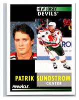 1991-92 Pinnacle #290 Patrik Sundstrom NJ Devils