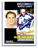 1991-92 Pinnacle #292 Mike Foligno Maple Leafs