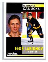 1991-92 Pinnacle #293 Igor Larionov Canucks