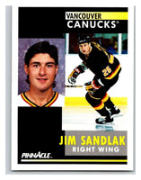 1991-92 Pinnacle #294 Jim Sandlak Canucks