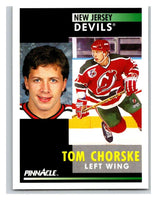 1991-92 Pinnacle #295 Tom Chorske NJ Devils