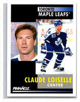 1991-92 Pinnacle #296 Claude Loiselle Maple Leafs