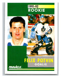 1991-92 Pinnacle #347 Louie DeBrusk RC Rookie Oilers