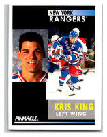 1991-92 Pinnacle #362 Kris King NY Rangers
