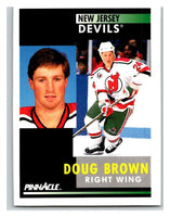 1991-92 Pinnacle #363 Doug Brown NJ Devils