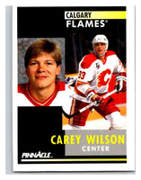 1991-92 Pinnacle #364 Carey Wilson Flames