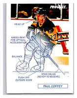 1991-92 Pinnacle #377 Paul Coffey Penguins TECH