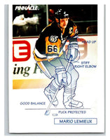 1991-92 Pinnacle #380 Mario Lemieux Penguins TECH