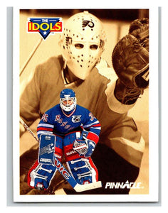 1991-92 Pinnacle #384 Mike Richter/Bernie Parent NY Rangers