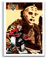 1991-92 Pinnacle #388 Tony Esposito/Ed Belfour Blackhawks