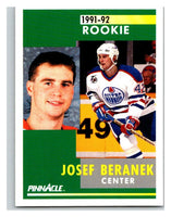 1991-92 Pinnacle #303 Josef Beranek RC Rookie Oilers