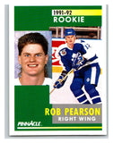 1991-92 Pinnacle #304 Rob Pearson RC Rookie Maple Leafs