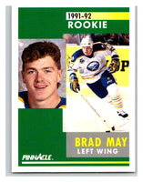 1991-92 Pinnacle #302 Brad May Sabres