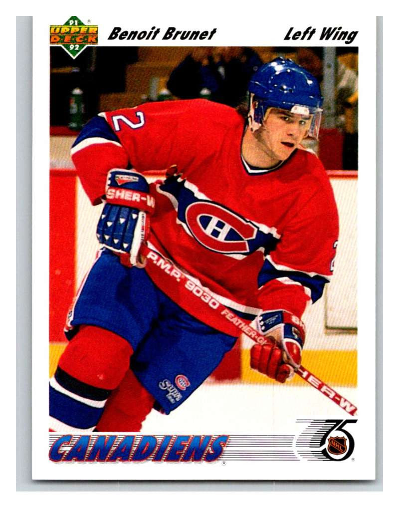 1991-92 Upper Deck #469 Benoit Brunet Mint RC Rookie