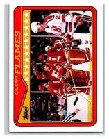 1990-91 Topps #38 Flames Team Mint
