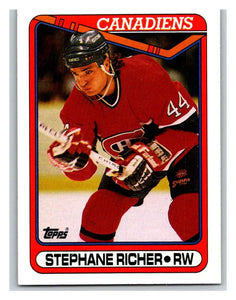 1990-91 Topps #186 Stephane Richer Mint